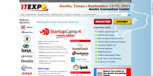 Rackspace sponsors StartupCamp at ITExpo West