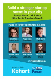 SXSW panelists advise how to foster entrepreneurial communities