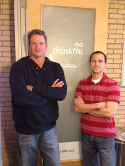 Steve Waters and Jonathan Berkowitz, two of the principals of Thinktiv, a new kind of technology accelerator and venture fund