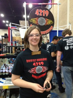 Haley Ross with the R4 Robo Riders