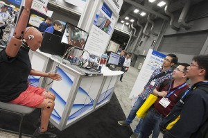Crash Test Dummy in the Big Analytics Booth at NIWeek Photo courtesy of National Instruments