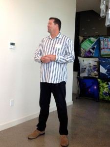 Mark Wilhelm with Nest Labs at the Pike Powers Lab announcing new jobs in Austin.