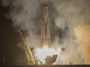 Expedition 37 crew members lifted off from the Baikonur Cosmodrome in Kazakhstan in the Soyuz spacecraft on Wednesday.
