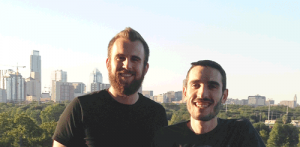 Nate McGuire and Tyler Hobbs, co-founders of Recipeas in Austin