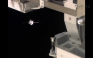 Soyuz spacecraft about to dock with the International Space Station, photo courtesy of NASA
