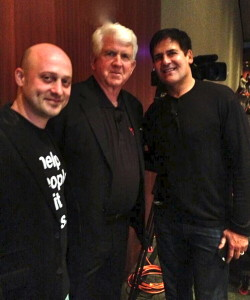 Josh Baer, Bob Metcalfe, instructors with Longhorn Startup and Mark Cuban