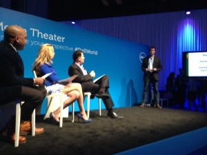 Ihiji co-founder and CEO Stuart Rench pitching at Dell's Pitch Slam event at Dell World.