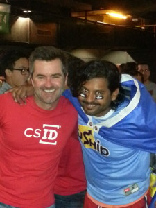 Joe Ross,president and cofounder CSID and Shawn Bose, vice president and general manager of UShip.