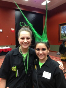Libby Perego, freshman, and Jessica Bayeh, junior at Cinco Ranch High School in Katy.