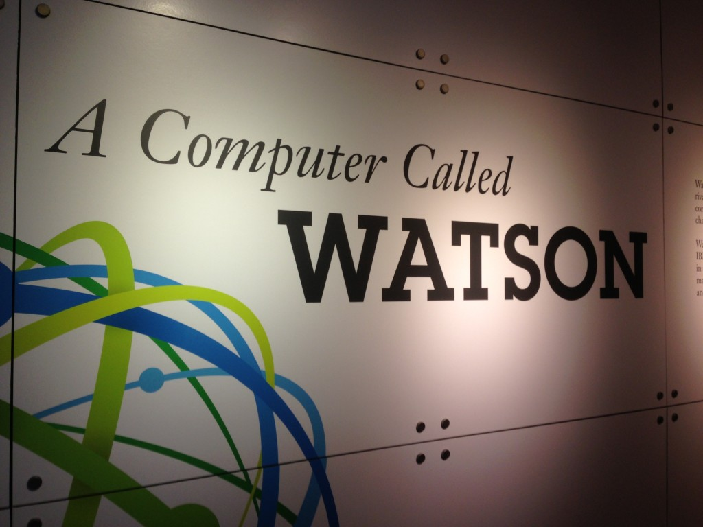 Watson display at the Computer History Museum, photo by Laura Lorek