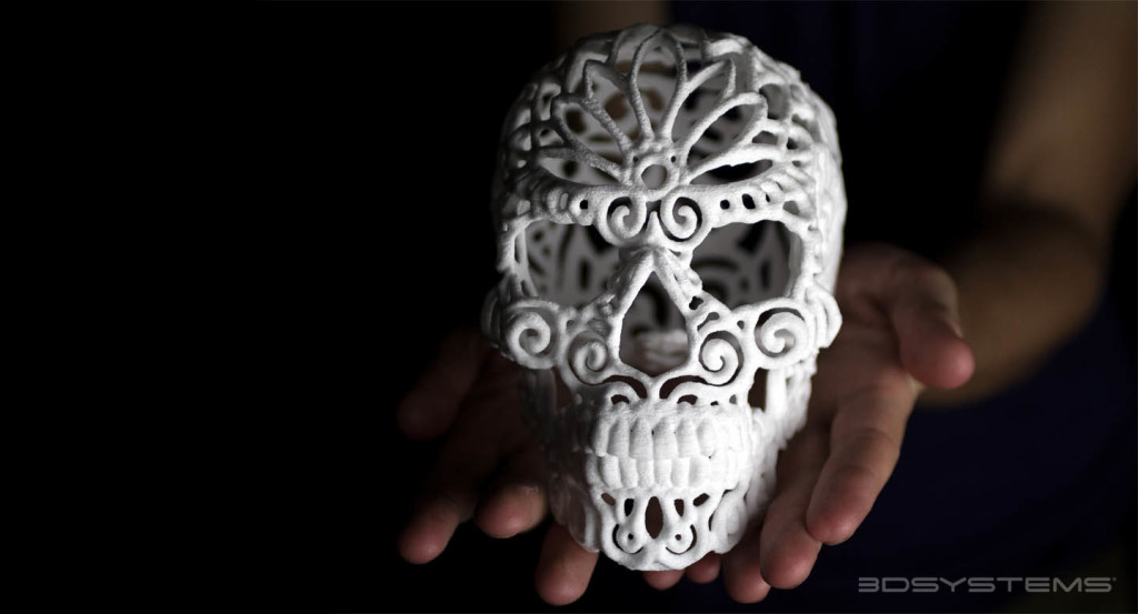 A 3D Printed Sugar Skull, photo courtesy of 3D Systems