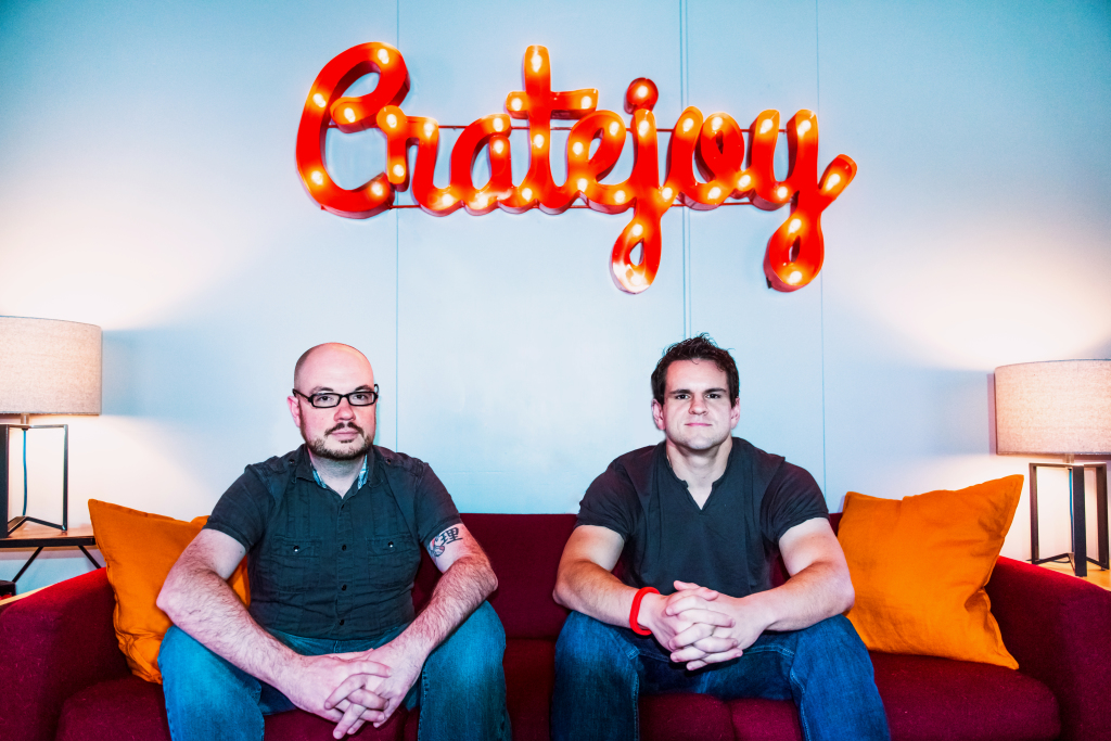 Alex Morse and Amir Elaguizy, co-founders of Cratejoy in Austin, photo by Devaki Knowles
