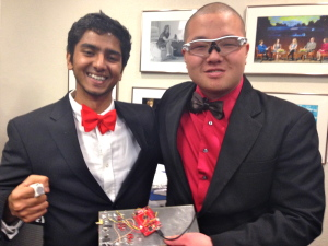 Vaibhav Gupta and Ray Xu, two of the founder of Lyte Labs at Longhorn Startup Demo Day