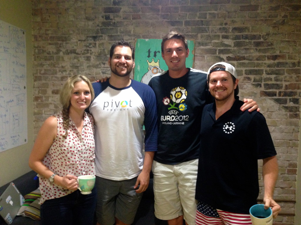 The Pivot Freight team participating in the Techstars Austin program