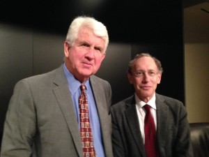 Bob Metcalfe, professor of innovation at the University of Texas at Austin with Dr. Robert Langer, Koch Institute Professor at MIT.