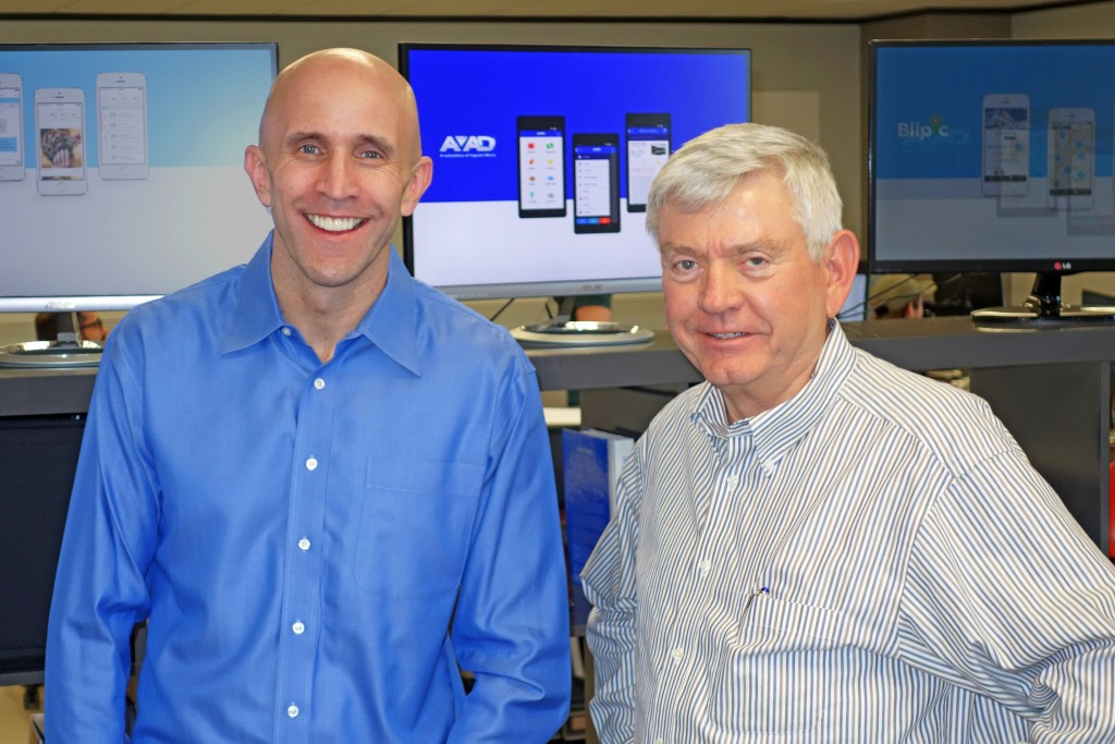 Enola Labs President and CTO Marcus Turner with Ben Dyer, a member of its advisory board.
