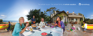 One of the print ads for HomeAway's new marketing campaign