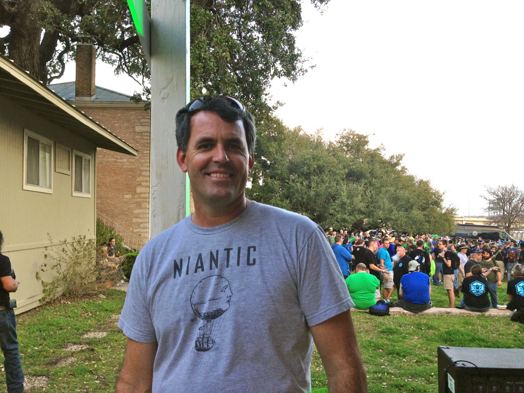Bill Kilday, marketing director for Niantic Labs, maker of Ingress is based in Austin