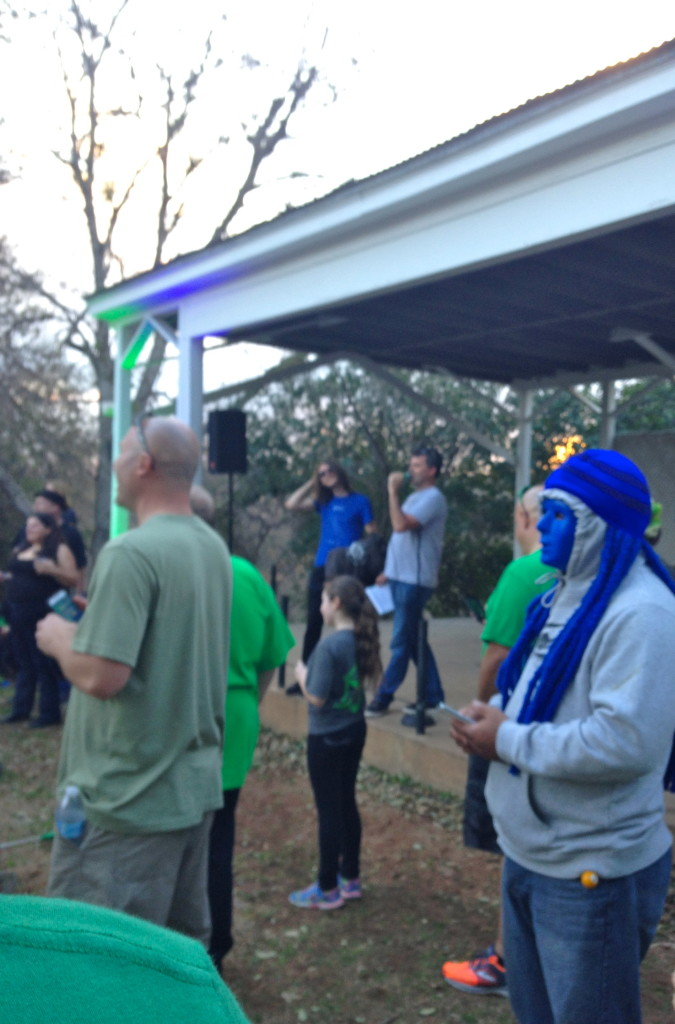 Bill Kilday announcing the winners at the end of the Austin Shonin Anomaly