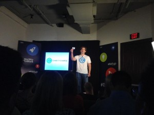 Stephen Garten with Charity Charge at IBM's New Way to Startup competition