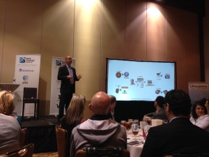 Richard Nelli, President, CloudVault Health, delivering the keynote speech at the Austin Technology Council's healthcare event.
