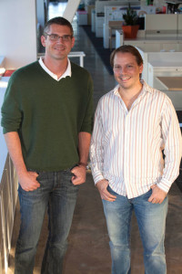Judd Lyon and Sebastian Brocher recently sold their startup, SiteCondor to gShift of Canada. Courtesy photo.