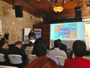 Hannah Perrin-Haynes,Vice President, Scottish Development International at the UK Gaming and Animation luncheon during Austin Startup Week.