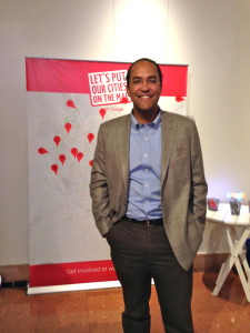 U.S. Rep. Will Hurd (R-Texas) at Google's Let's Put Our Cities on the Map event in San Antonio.