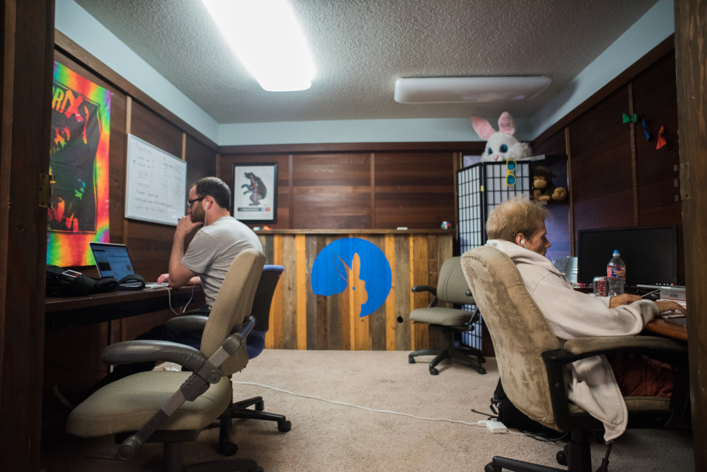 Inside the offices of Everfest in Austin, photo by Graham Dickie.