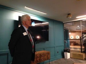 UT at Austin Professor of Innovation Bob Metcalfe kicks off the StARTup Studio at WeWork.