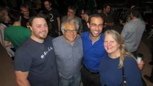 Wes Wilson, Alan Weinkrantz, Nan Palmero and Laura Lorek at the first Techstars Cloud Demo Day party in San Antonio. Photo courtesy of Paul Ford.