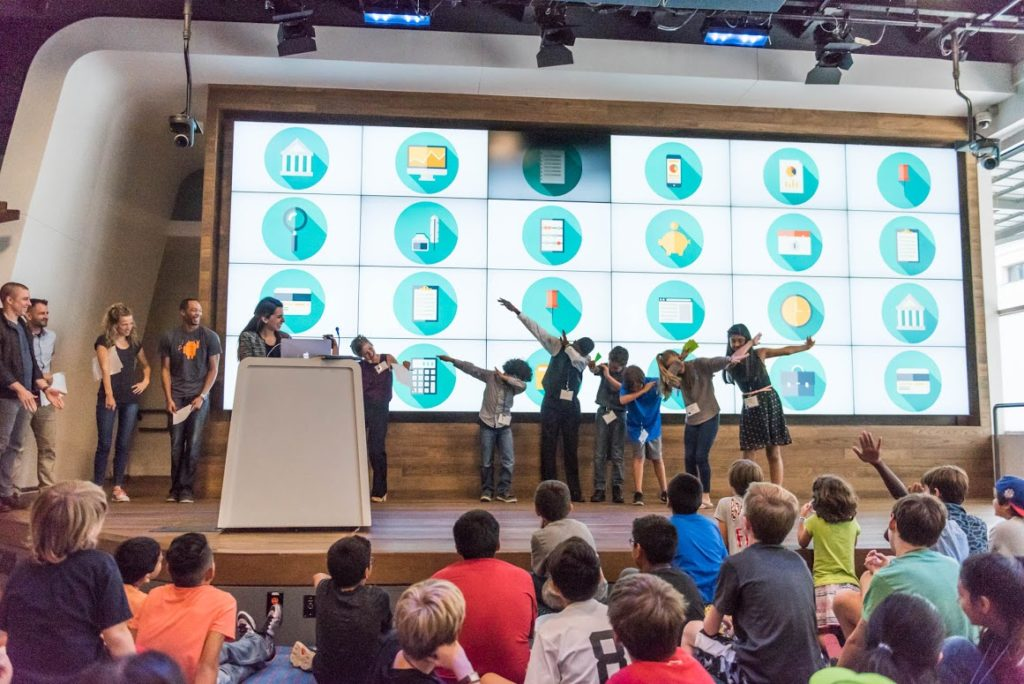 The eBay Pandas team won the overall app competition at Hello World. Courtesy Photo by Erika Rich.