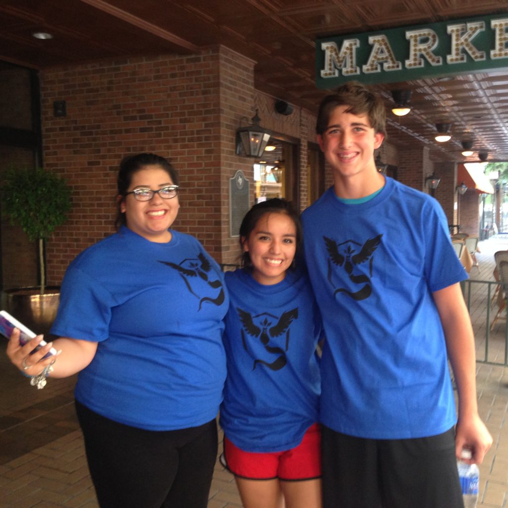 Team Mystic Pokemon Go players on the Hunt in downtown San Antonio