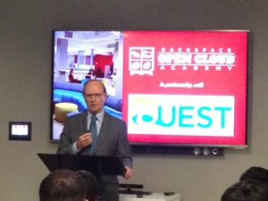 Bexar County Judge Nelson Wolff at the Open Cloud Academy's event to launch its cybersecurity program.