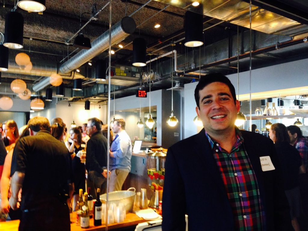 Justin Stewart, co-founder of Industrious, at its Austin coworking location during its launch party.