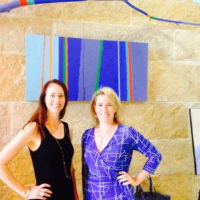 Sara Brand and Kerry Rupp, co-founders of True Wealth Ventures at Austin City Hall.